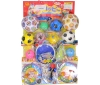 50yen value x 80pcs+5  Character Ball & Ball on Cardbord Happy Raffle Game  (Sample Picture)