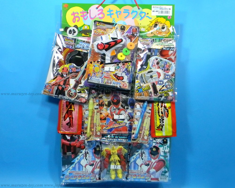50yen value x 80pcs+4 Lupinranger VS Patoranger Happy Raffle Game(Sample Picture)