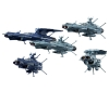 [Bandai] Space Battleship Yamato 2202 Mecha Collection U.N.C.F. Andromeda Class Set