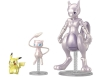 [Bandai] PokePla(Pokemon Plastic Model Collection) Mewtwo & Mew & Pikachu Set