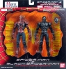 Spiderman & Black Spiderman Figures Set -Bandai Movie Realization-