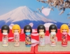 (IWAKO)(ER-COK001)-made in JAPAN-Kokeshi Doll Erasers(Display Box can be changed)
