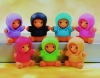 (IWAKO)-made in JAPAN-Parka Bear Set Erasers(Colors/Designes/Assortments may changed without Notice)