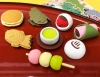 (IWAKO)-made in JAPAN-New Japanese Sweets Erasers(Colors/Designes/Assortments may changed without Notice)