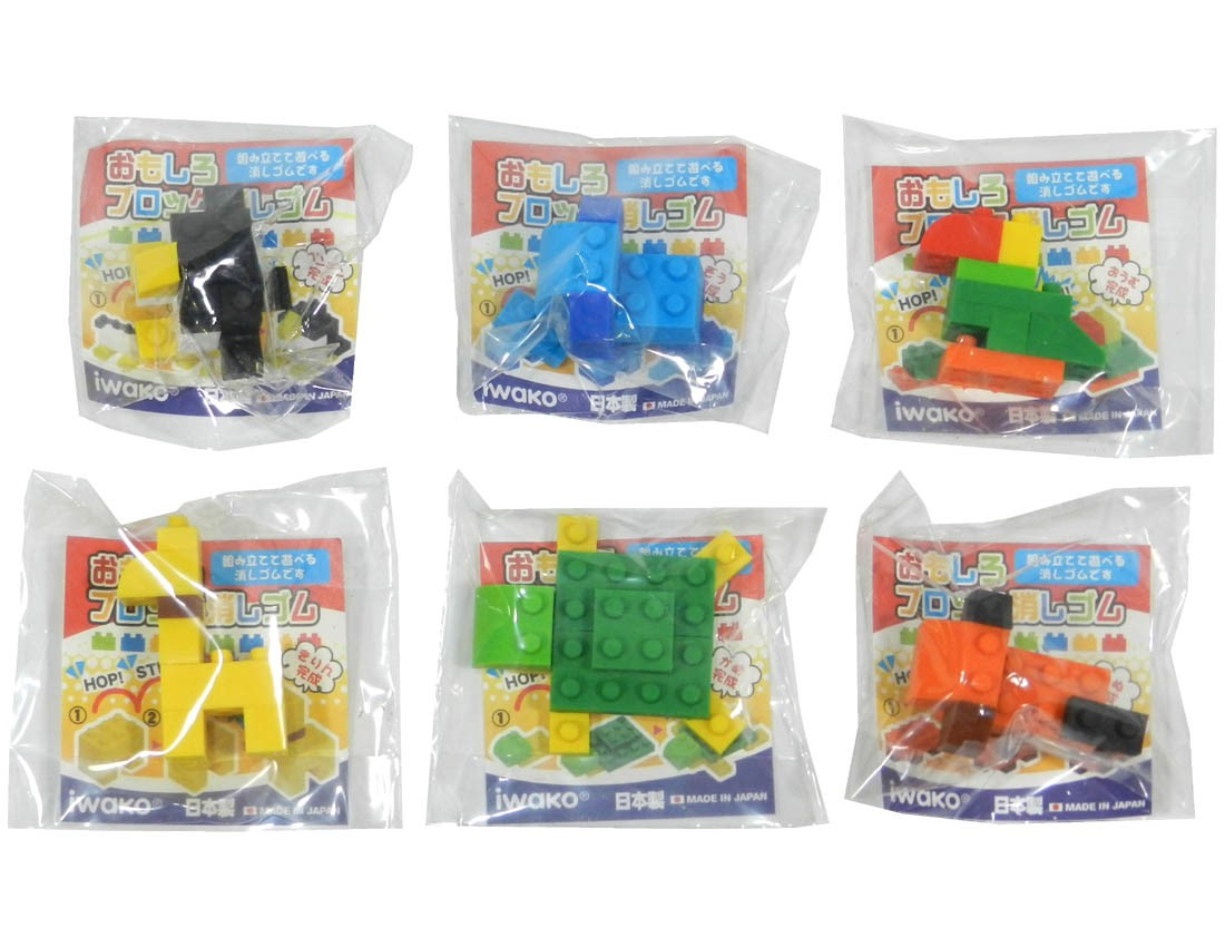 (IWAKO)-made in JAPAN-Block Erasers (Animal)(Colors/Designes/Assortments may changed without Notice)