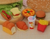 (IWAKO)-made in JAPAN-Burger Set Erasers(Colors/Designes/Assortments may changed without Notice)