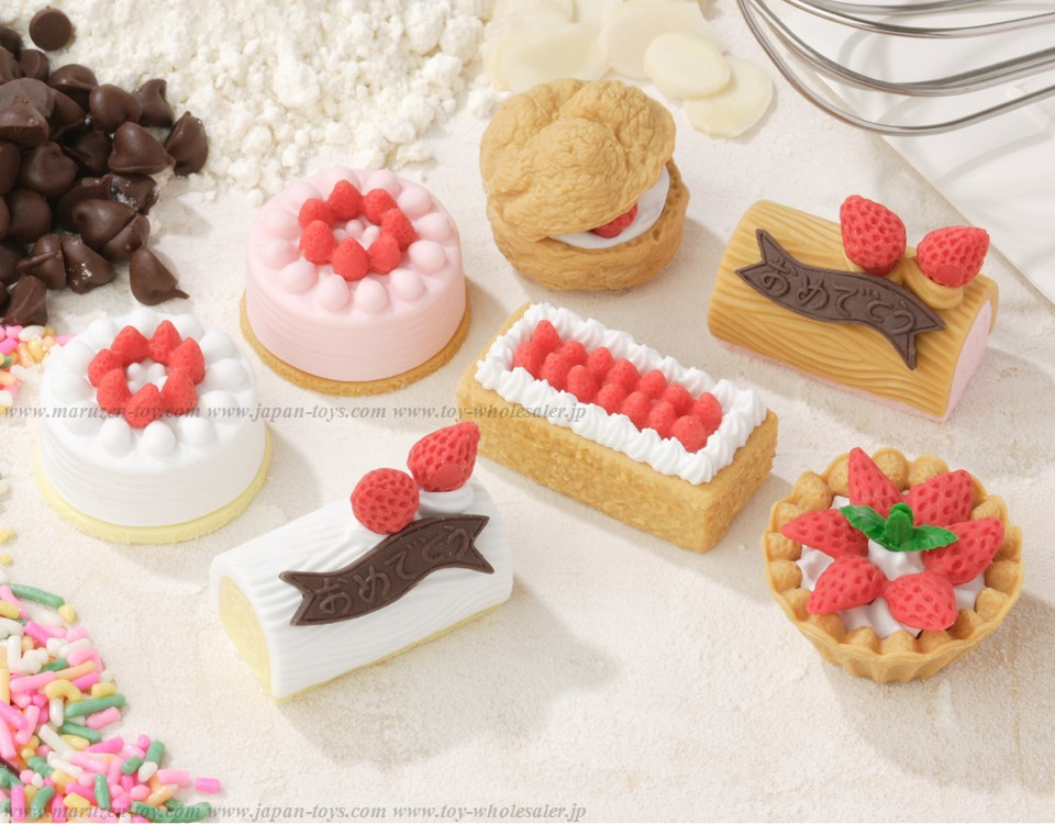No.2 CakeErasers -Iwako Made in Japan- (Colors/Designes/Assortments may changed without Notice)