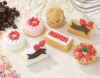 (IWAKO)-made in JAPAN-No.2 CakeErasers(Colors/Designes/Assortments may changed without Notice)