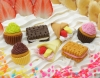 (IWAKO)-made in JAPAN-No.3 CakeErasers(Colors/Designes/Assortments may changed without Notice)
