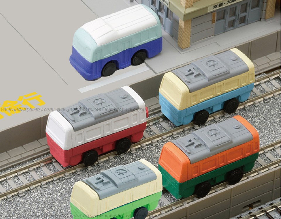 Train & Bus Erasers -Iwako Made in Japan- (Colors/Designes/Assortments may changed without Notice)