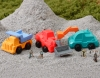 (IWAKO)-made in JAPAN-Construction Car Erasers(Colors/Designes/Assortments may changed without Notice)