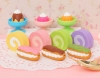 (IWAKO)-made in JAPAN-Tea Time Erasers (Colors/Designes/Assortments may changed without Notice)