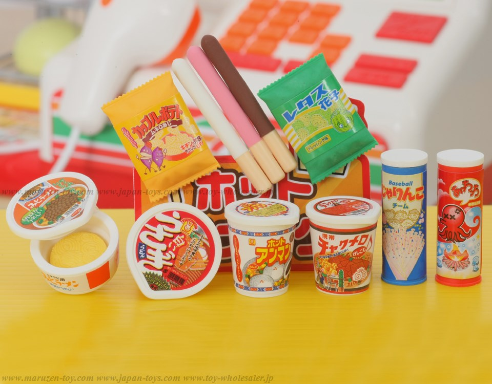 (IWAKO)-made in JAPAN-Junk Food Erasers(Colors/Designes/Assortments may changed without Notice)