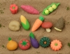(IWAKO)(ER-031020)-made in JAPAN-Vegetable Erasers No.1(Display Box can be changed)