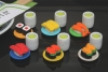(IWAKO)(ER-SUS002)-made in JAPAN-Kaiten Sushi Erasers(Display Box can be changed)