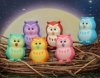 (IWAKO)-made in JAPAN-Iwako Owl Erasers(Colors/Designes/Assortments may changed without Notice)
