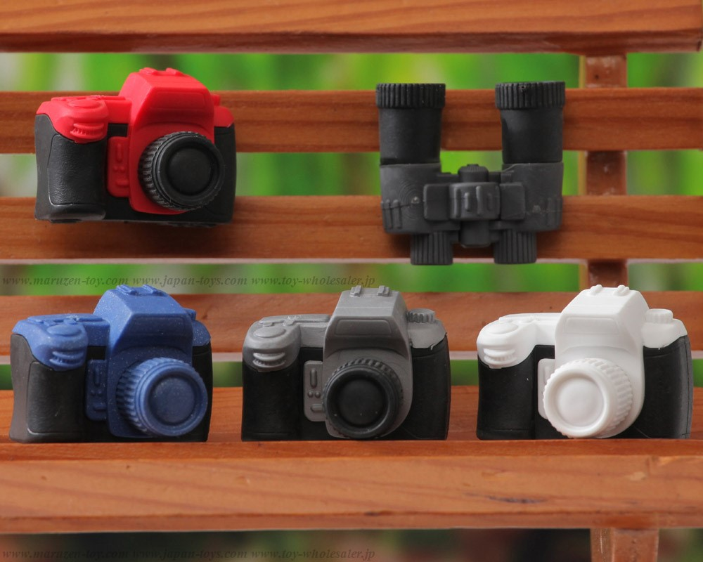 (IWAKO)-made in JAPAN-Camera and Binoculars Erasers(Colors/Designes/Assortments may changed without Notice)