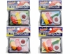 (IWAKO)-made in JAPAN-100yen Stationery Series Sushi Erasers Set(Colors/Designes/Assortments may changed without Notice)