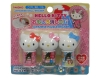 (IWAKO)-made in JAPAN-Hello Kitty Kokeshi Erasers (Colors/Designes/Assortments may changed without Notice)