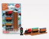 (IWAKO)-made in JAPAN-Blister Pack Erasers Steam Locomotive Set(Colors/Designes/Assortments may changed without Notice)