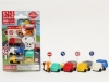 (IWAKO)-made in JAPAN-Blister Pack Erasers Normal Set(Colors/Designes/Assortments may changed without Notice)