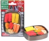 (IWAKO)(ER-BRI 062)-made in JAPAN- Blister Pack Erasers SUSHI Bowl (Colors/Designes/Assortments may changed without Notice)