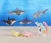 (IWAKO)(ER-SEE003)-made in JAPAN-Sea Animal 2 Erasers(Display Box can be changed)