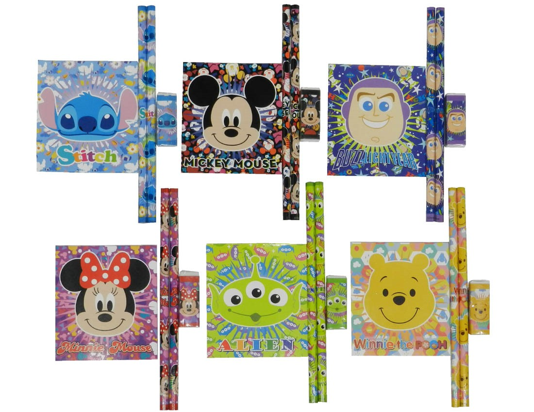 Disney Assorted 4P Stationery Set