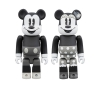 [MEDICOM TOY] BE@RBRICK MICKEY MOUSE & MINNIE MOUSE(B&W Ver.) 2Pack