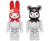 [MEDICOM TOY] BE@RBRICK MY MELODY (Red  Melo Ver.) & BE@RBRICK KUROMI 100% 2Pack
