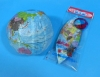 Globe Paper Balloon (size 3) - Smaller One in the picture with plastic bag