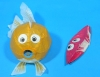 Assorted 3 Color Goldfish Paper Balloon (size 1) Smaller size in the picture(Price is for single ballon)