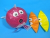 Assorted 3 Color Goldfish Paper Balloon (size 4) Larger size in the picture(Price is for single ballon)