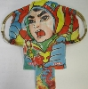 "Vintage kite from decads ago - resemble ""Japanese Nostalgic Hero Gacchaman"""