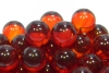 17mm Clear Colored Marbles - Red