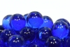 17mm Clear Colored Marbles - Cobalt