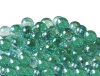 12.5mm Glitter Aurora Marbles - Emerald Green