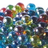 17mm Glitter Aurora Marbles - Assorted