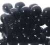 15mm Black Glass Marbles