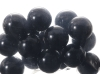 25mm Black Glass Marbles