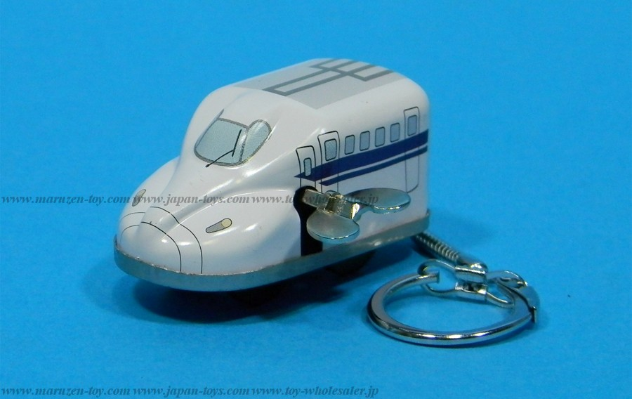 (Sankou-Seisakusyo made in Japan Tin Toys)No.241K Sankou: Mini Tin Shinkansen N700 with key holder (Made in Japan)