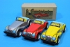 "(Sankou-Seisakusyo made in Japan Tin Toys)No.1112 ""5 Inch"" Old Sports Car (Assorted 3 Colors Set) MG Convertible -Made in Japan- (each comes with box)"