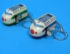 (Sankou-Seisakusyo made in Japan Tin Toys)No.203K Wind-Up Mini Shinkansen Keyholder in Blue and Green (No Box)