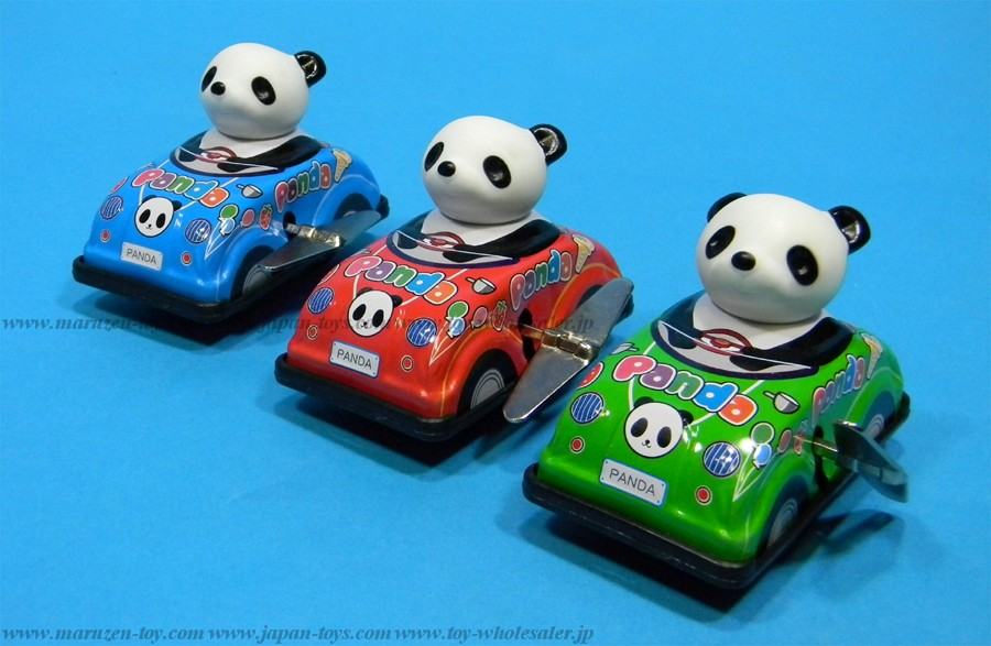 (Sankou-Seisakusyo made in Japan Tin Toys)No.1091 Tin Drive Panda -Made in Japan-