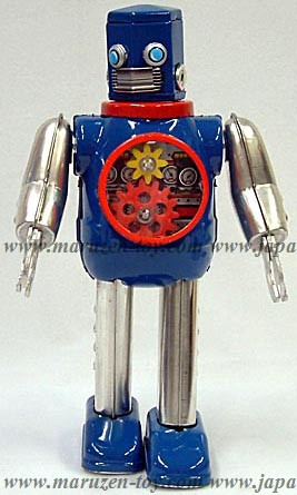 Win Up Hex Head Tin Robot (Blue: Gear Ver.) -Made in Japan-(3-5 month to be in stock)