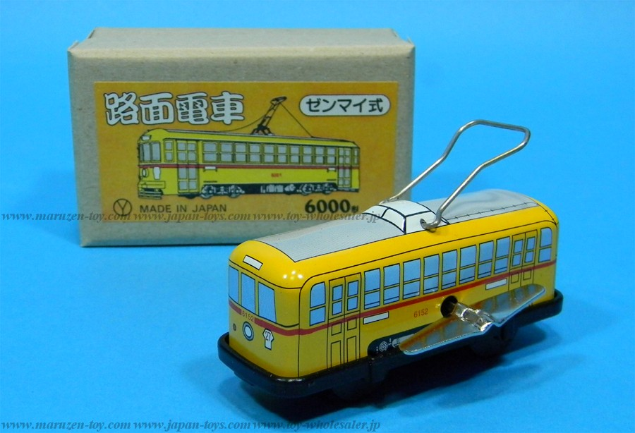 (Sankou-Seisakusyo made in Japan Tin Toys)No.211 Trolley (Yellow) -Made in Japan-