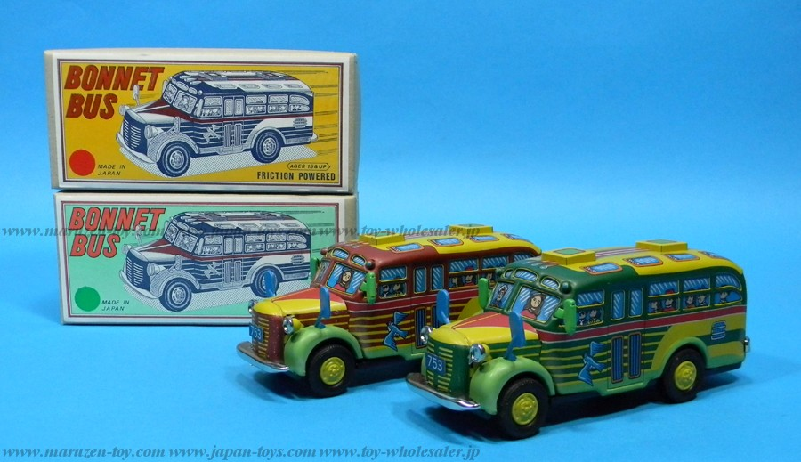 "(Sankou-Seisakusyo made in Japan Tin Toys)No.502 Japanese Tin Toy ""Bonnet Bus"" from the old times -Made in Japan-"