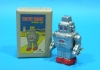 (Sankou-Seisakusyo made in Japan Tin Toys)No.204 Spring-Wound Robot (silver) -Made in Japan-