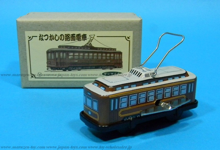 (Sankou-Seisakusyo made in Japan Tin Toys)No.210 Trolley (Brown) -Made in Japan-