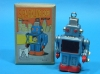 (Sankou-Seisakusyo Made in Japan Tin Toys)No.227 Wind Up Walking Sparkling Robot (Blue)